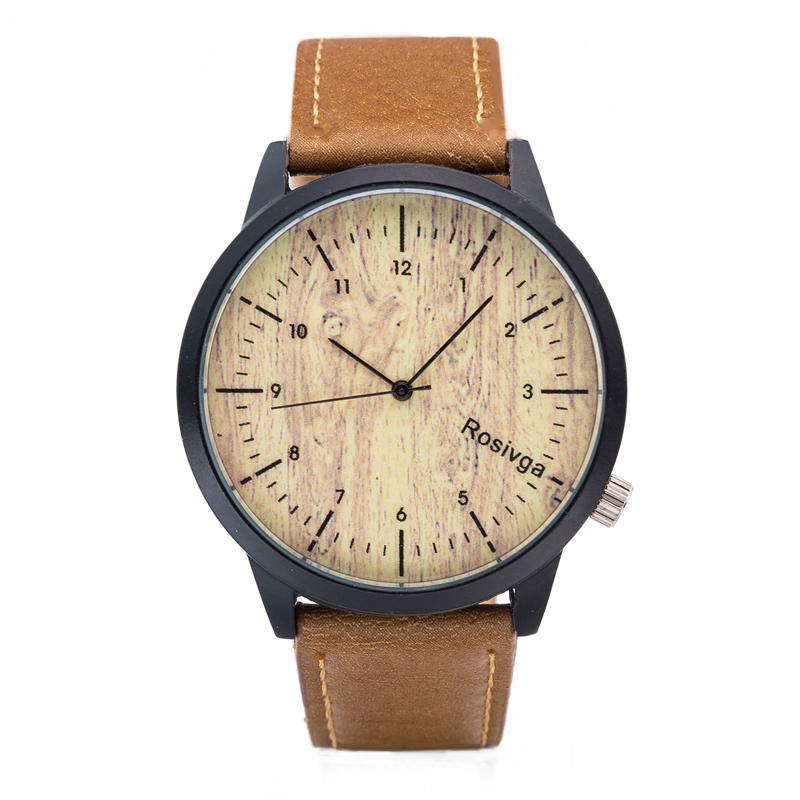 Fashion Men Watches Quality Quartz Wrist Watch Band Leather Wood Grain Male Clock Top New Man Wristwatch 12 Hours Relogio Homem onlyou men s watch women unique fashion leisure quartz watches band brown watch male clock ladies dress wristwatch black men