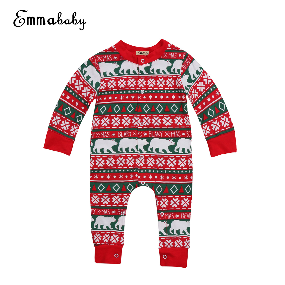Babies Winter Xmas Romper Clothing Infant Baby Christmas Festivel Warm pjs Rompers Cloth ...