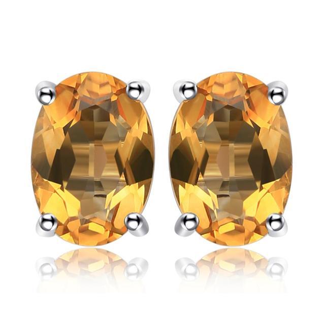 Amethyst Topaz Stud Earrings