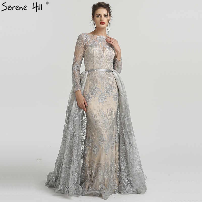 Serenhill Robe De Soiree De Forme Sirene Luxueuse Tenue De Soiree Avec Traine Manches Longues Sexy A La Mode La6503 2020 Aliexpress