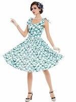 Sisjuly 2017 New Vintage Dresses Floral Flower Print Summer Dress Knee High A Line Retro Dress