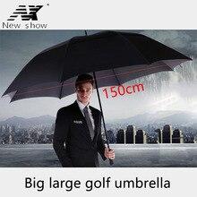 NX grand parapluie de golf créatif double couche, résistant au vent, de 145 à 150cm, pour hommes et affaires