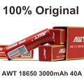 2 шт. Электронных Сигарет Аккумуляторная 18650 Батарея AWT 3000 МАч 40A Аккумулятор Для Электронных Сигарет Поле Mod Жидкостью Vape жидкостью vape испаритель 40A