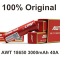 2 pcs Recarregável 18650 AWT Bateria Cigarros Eletrônicos 3000 Mah 40A Bateria Para E-Cigarros Caixa Vape Mod Vape vaporizador 40A