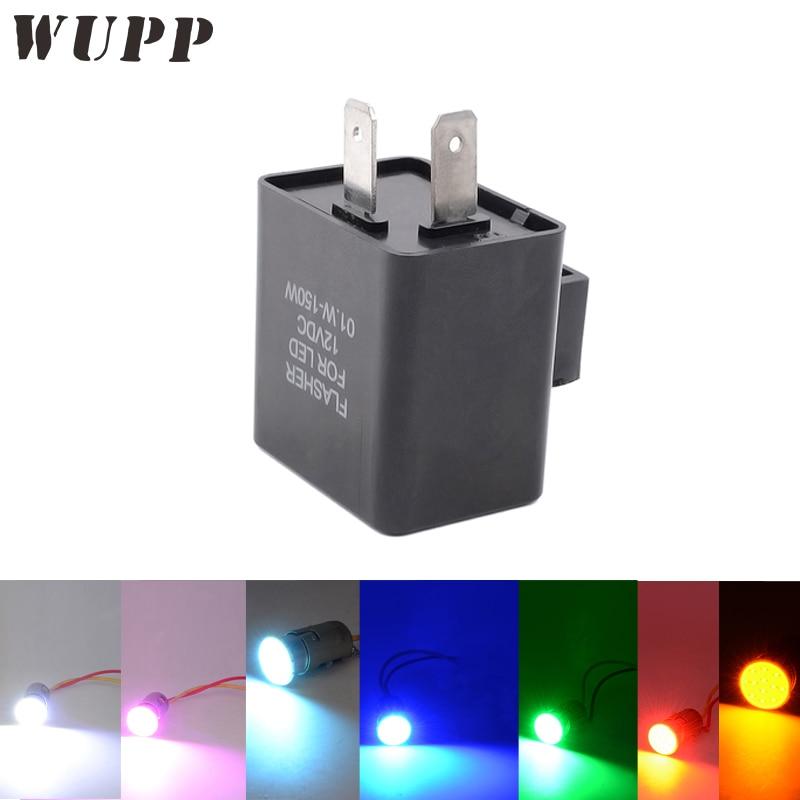 WUPP COB Wiederum Licht Buld Drehen Blinker Blinker Indikatoren Relais mit 4 Stücke Weiß/Blau/Rot/Rosa/Gelb/Grün/Ice Blue Led