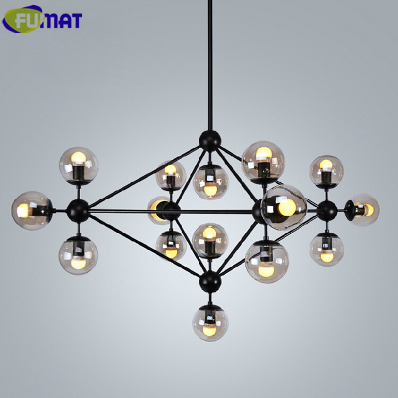FUMAT Magic Bean Chandeliers Modern Vintage Glass Ball Lights American Living Room Lamp Nordic Dinning Room Modo Hanging Lamps new stype magic bean chandeliers pendant lamps ac 110 240v led dna bubble modern glass lamp for living room mall hotel decor