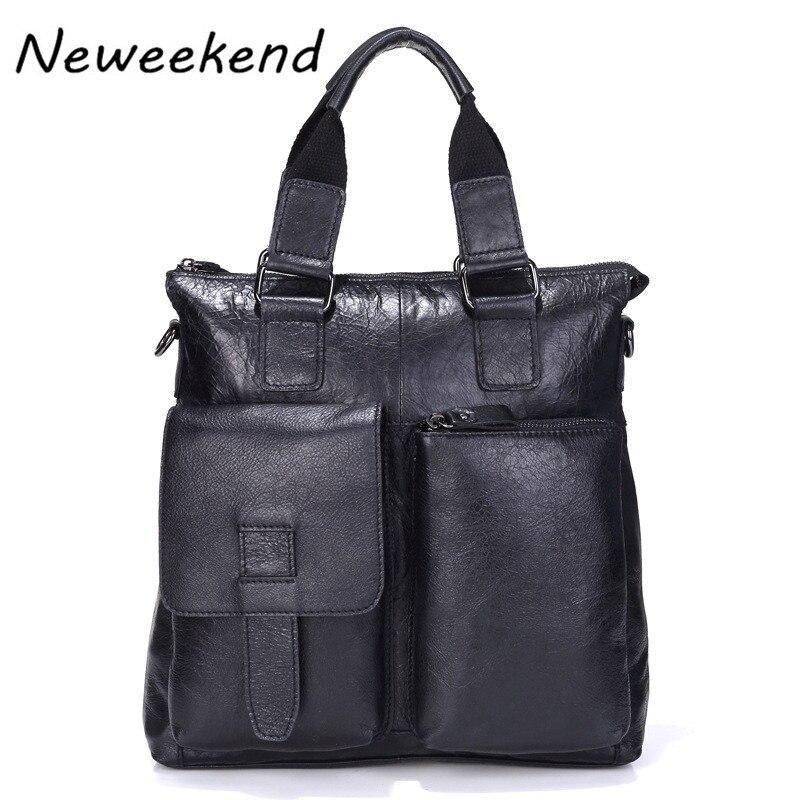 все цены на NEWEEKEND Business Multifunction Oil Wax Genuine Leather Colorful Men's Briefcase Portable Laptop Crossbody Bag MS8102 онлайн