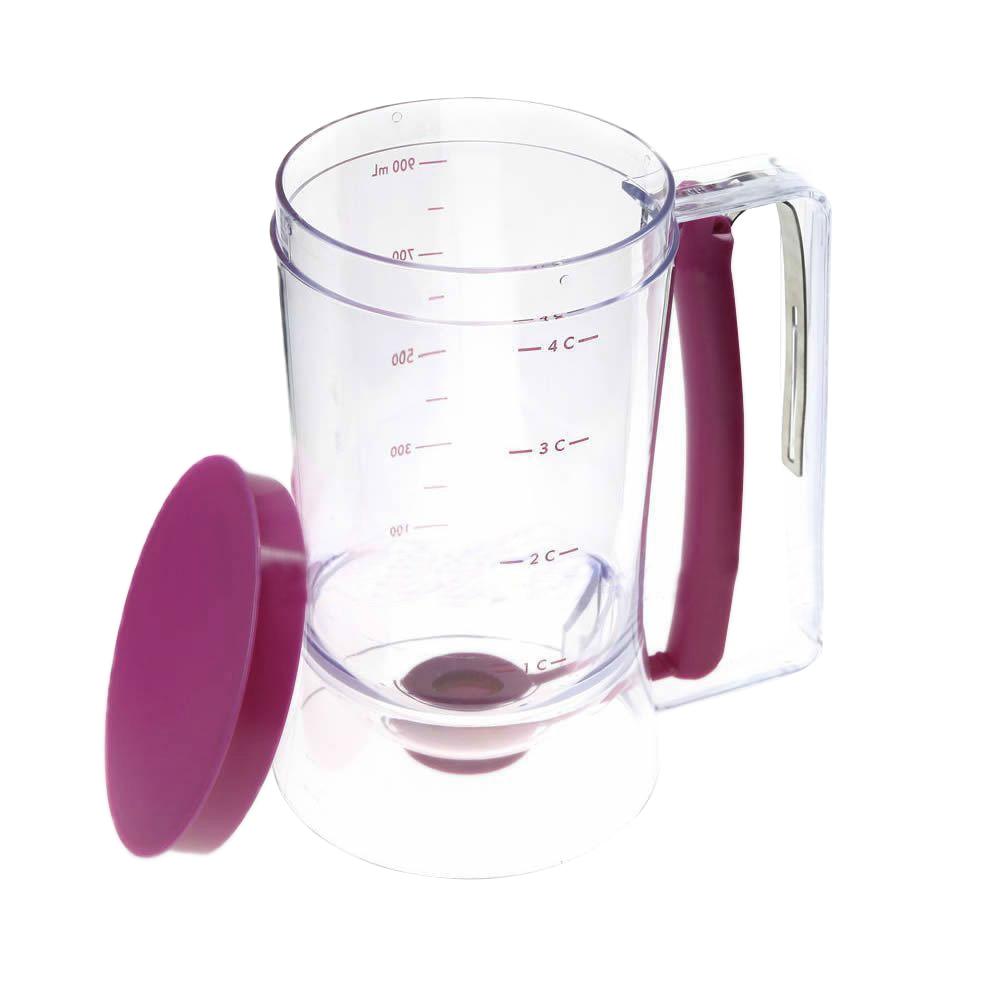 4 Cups Batter Dispenser Chef Helper Cupcake Pancake Crepe Baking Gadgets DIY