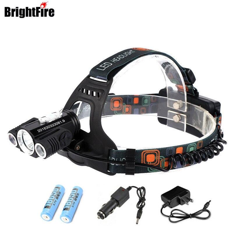 Brightfire 9000 Lumens 3 LED Koplamp XM-L T6 Koplamp High Power LED - Draagbare verlichting