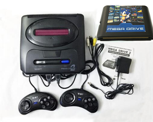 For 16 bit For SEGA MD2 Video Game Console with US and Japan Mode Switch,820 in 1 game cartridge for everdrive sega