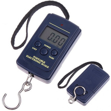 LCD Display Portable Travel 0.01kg-40kg Electronic Digital Scale Hanging Hook Luggage Kitchen Tool Weight Balance Steelyard #716 laboratory balance scale 50g 0 001g high precision jewelry diamond gem lcd digital electronic scale counting function portable