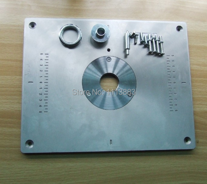 Aluminum router table insert plate for popular router models if you dont leave note we will send you version with no holes greentooth Images