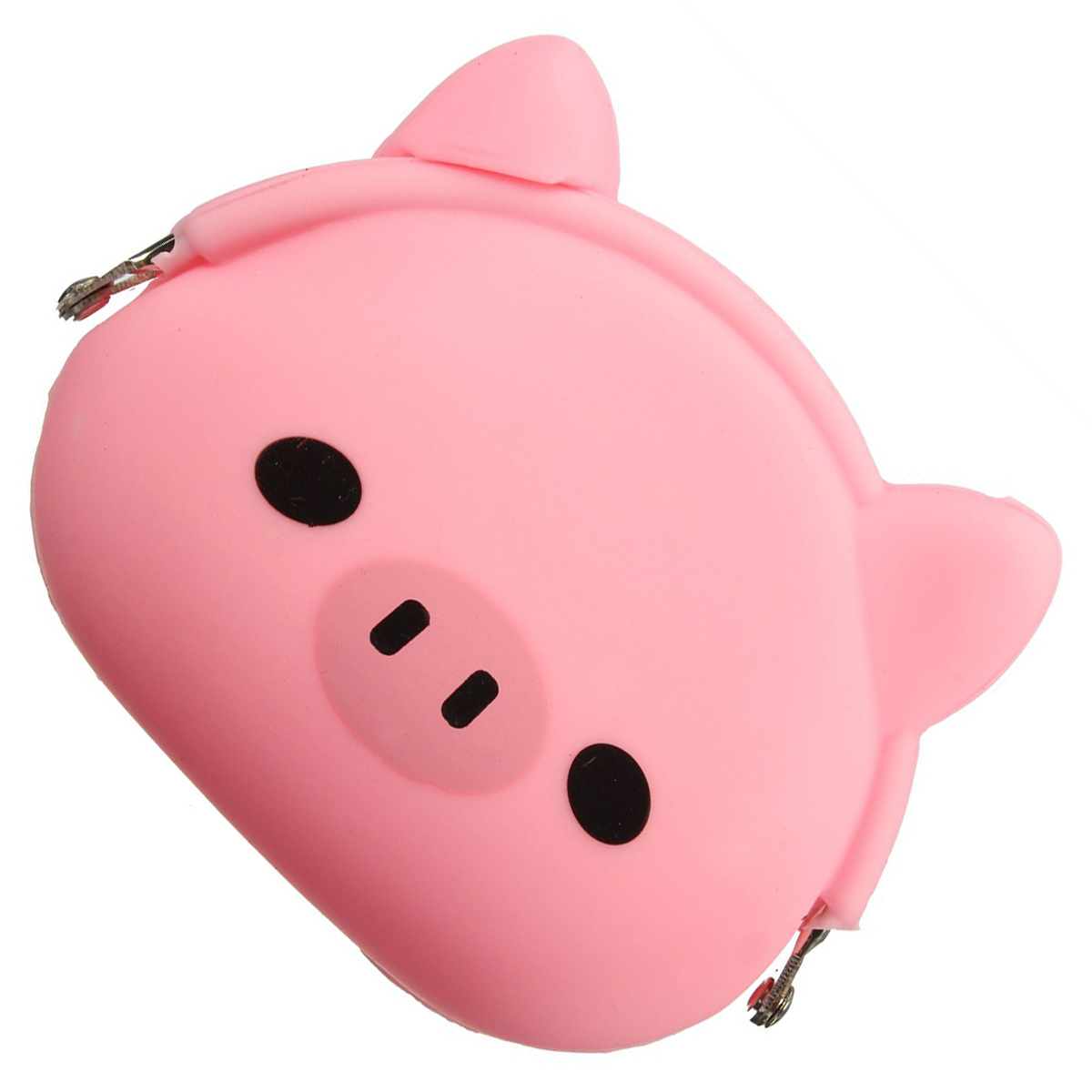 FGGS-Women Girls Wallet Kawaii Cute Cartoon Animal Silicone Jelly Coin Bag Purse Kids Gift Pink Pig asds women girls wallet kawaii cute cartoon animal silicone jelly coin bag purse kids gift huskies