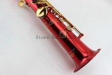 SUZUKI покрытые красной медью сопрано прямой саксофон позолоченный ключ Bb Саксофон сопрано саксофон музыка инструмент с чехлом