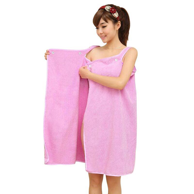 Sexy Women Microfiber Bath Towel Wearable Beach Towel Soft Purple Beach Wrap Skirt Super Absorbent Bath Gown High Quality