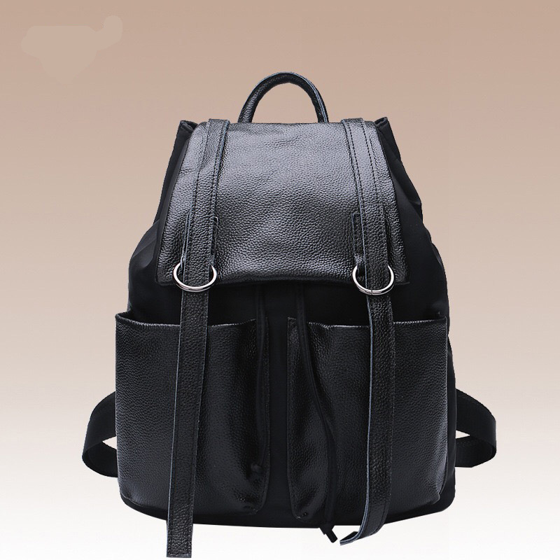 New Travel Backpack Korean Women Femal Backpack Leisure Ladies Soft Genuine Leather Women Bag Girl Fashion Lager  Back Bags 2017 new korean man pu leather backpack male new style junior middle school students leisure travel backpack fashion bag