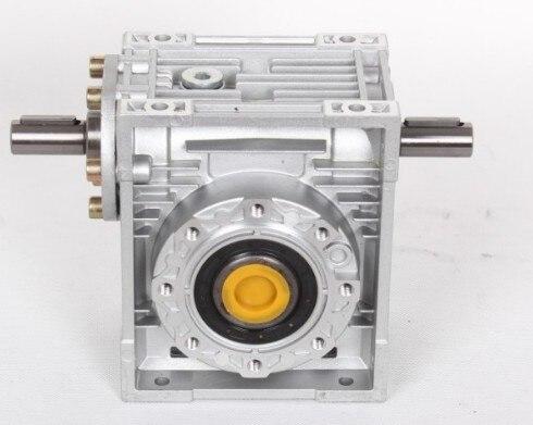 5: 1-80: 1 червь редуктор NRV030-VS двойное расширение вал мм 9 мм соотношение 7,5: 1-80: 1 90 градусов червь редуктор Скорость Редуктор