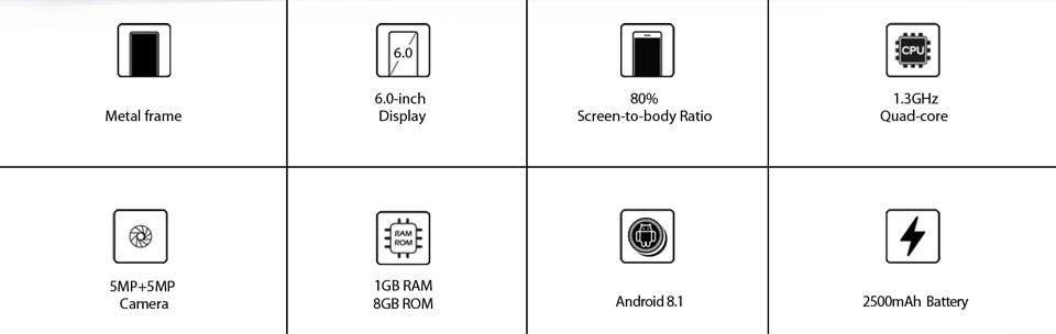 XGODY Y27 6'' 3G Dual Camera Unlocked Smartphone
