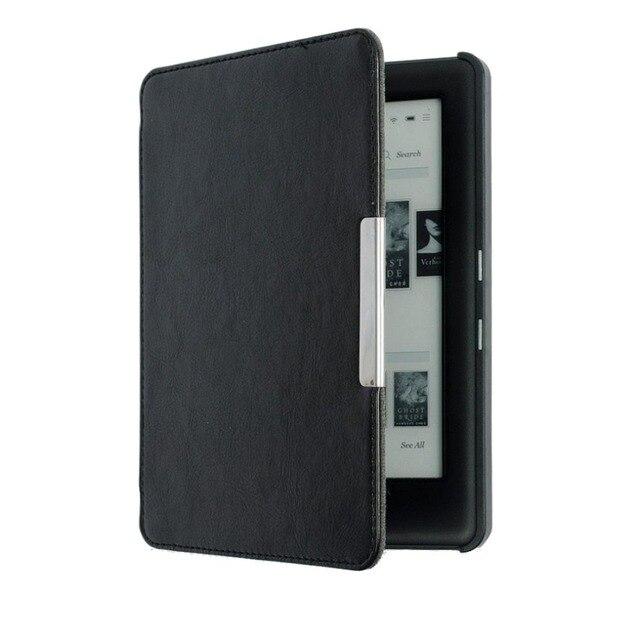 Funda negra para KOBO GLO magnética Auto Sleep Slim funda carcasa dura para KOBO GLO N613 6 pulgadas