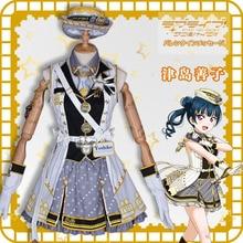 2019 lovelive sunshine Aqours Train awakening Tsushima Yoshiko Dress Lovely Halloween Women Dress цена