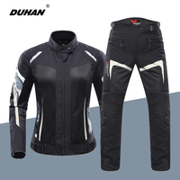 DUHAN Motorcycle Jacket Ms Jacket Summer Breathable Mesh Moto Jacket Protective Gear Motorcycle Suit Motobike Clothing For Women