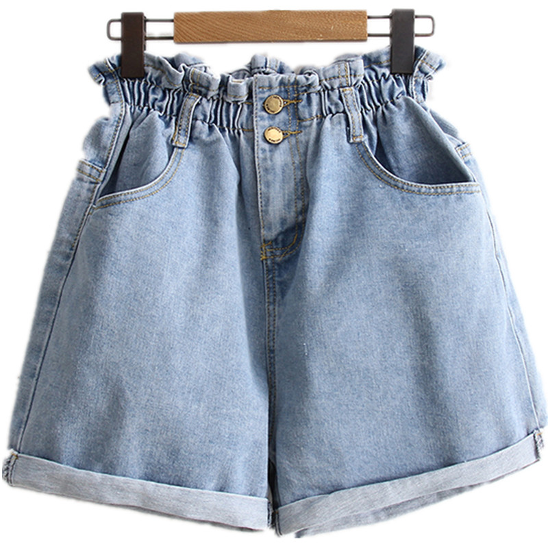 B2458 New Style Spring And Summer 2019 Students Lace Embroidered Women Loose Wide Leg Hot Denim Shorts Cheap Wholesale Jeans
