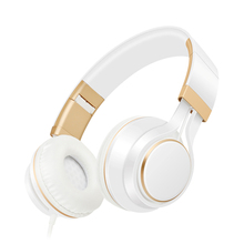 Headphones with Microphone Volume Control Foldable Headset for iPhone 7/7 plus iPad/iPod, Android Device Earphone auriculares