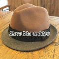 Winter Wool Fedora Hats Men Chapeu Masculino Panama Patchwork Felt Trilby Jazz Caps Free Shipping PWI-009