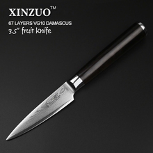 XINZUO 67 layers 3.5″ paring knife Japanese VG10 Damascus kitchen knife