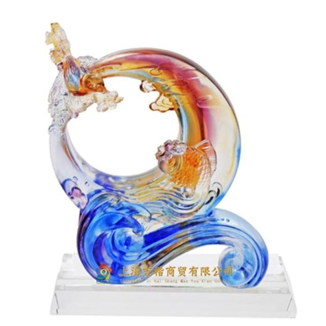 Genuine ancient glass ornaments glass ornaments Lucky Feng Shui brighter opening opened housewarming gift
