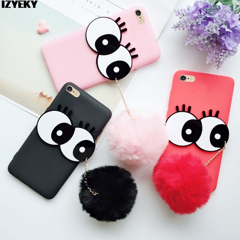 Tenenele Case For Samsung Galaxy J7 J7 2015 Case Cute Fur Furry Ball Rabbit Cover Soft Silicone Case Fashion Galaxy J7 2015 50% OFF Cellphones & Telecommunications Phone Bags & Cases