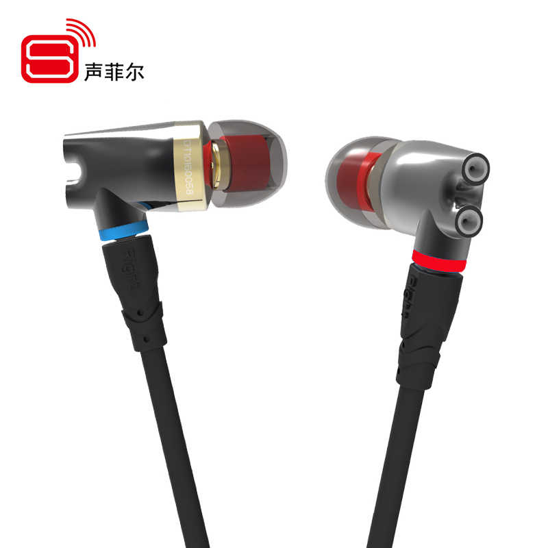 SENFER DT2 IE800 Version 2 Ceramic Earphone Dynamic With BA Hybrid Drive Unit HIFI Music DJ Studio Earplhone With MMCX Interface