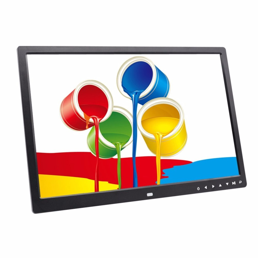 17 Inches Wide Screen HD LED Digital Photo Frame 1440*900 Electronic Picture Album 64G LED Screen Touch Buttons Multi language