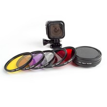 Gopro Session Accessories 6 in 1 58mm Lens Filter Kit Protection Lens Cover Set For Go Pro 4 Session Action Camera accessories
