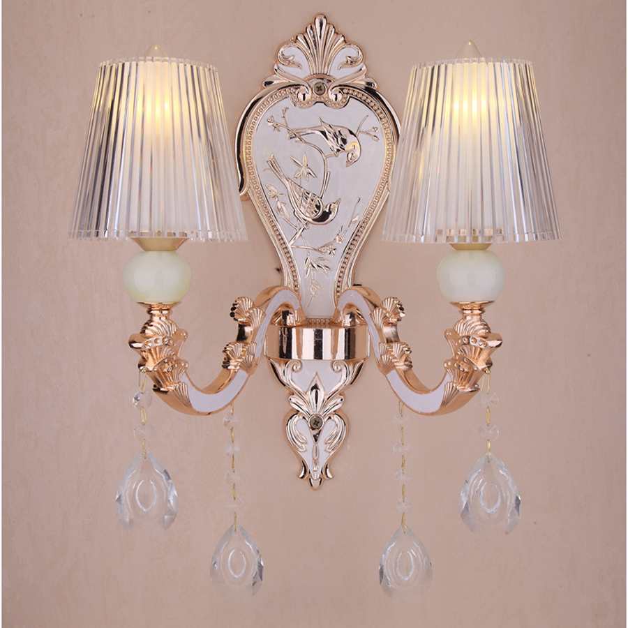 Factory directly supply European luxury wall candle crystal LED wall lamp hotel project villa duplex floor living room lights factory price a3 uv printer directly to black phone cover printer directly printing candle with embossed effect