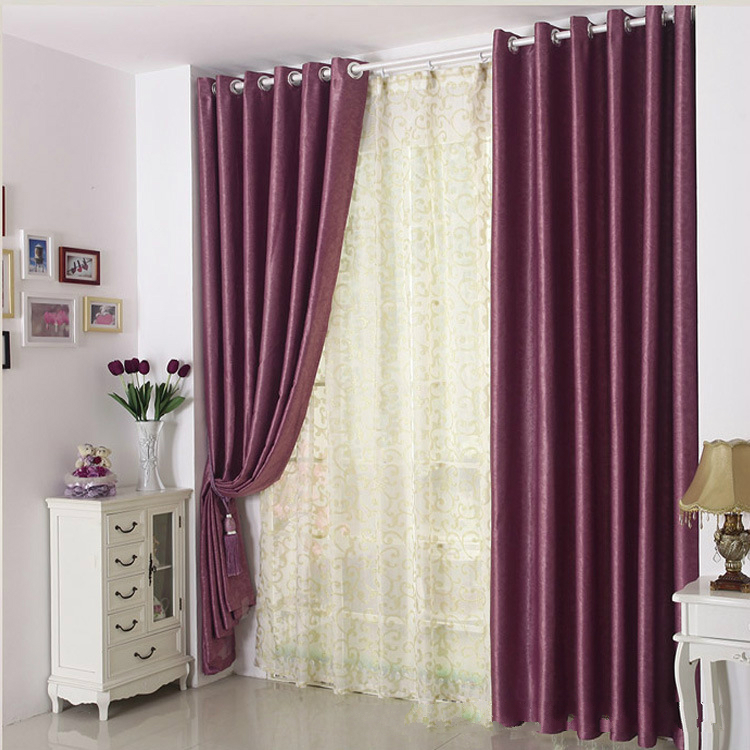Modern minimalist one side velvet curtains printed for Cortinas black out