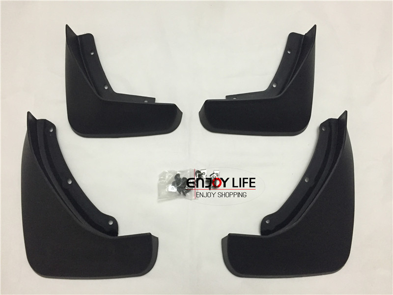4pcs Black Front+Rear Mudguard Mud Flaps Splash Guard Fender For <font><b>VOLVO</b></font> XC90 <font><b>XC</b></font> <font><b>90</b></font> 2015 2016 Car Styling image