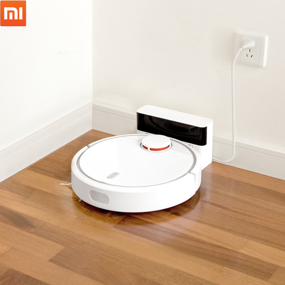 2018 Original Xiaomi MI Robot Vacuum Cleaner for Home Automatic Sweeping Dust Sterilize Smart Planned Mobile App Remote Control cen546 110 220v mini robot vacuum cleaner for home automatic sweeping dust sterilize smart planned mobile app 0 3l dust box