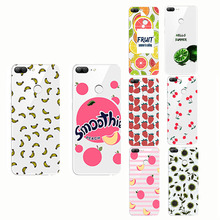 peach banana cherry lemon pattern  soft shell Soft Phone Case Cover for huawei Honor 8 9 10 lite