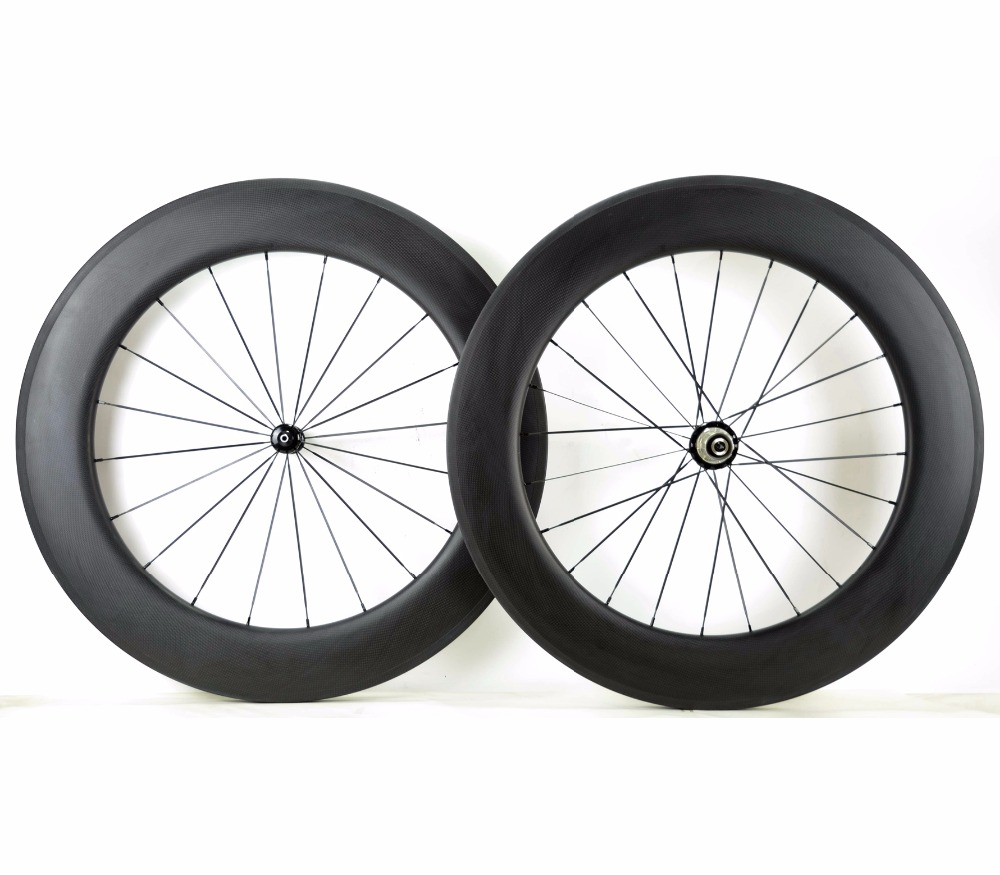 700C 88mm depth carbon wheels 25mm width clincher/Tubular Road  bike full carbon fiber wheelset  3K matte finish U-shape rim стоимость