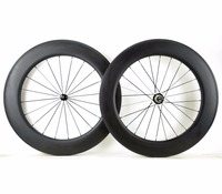 Free Shipping Full Carbon 88mm Depth Road Bike Wheel 700C 25mm Width Clincher Tubular Road Bicycle