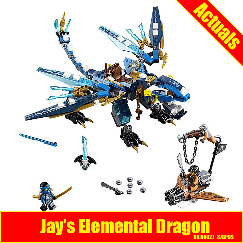 LEPIN 06027 Jays Elemental Dragon Building Block Set Jay Cyrene Monkey Toy Compatible with 70602 Educational Children DIY Gif