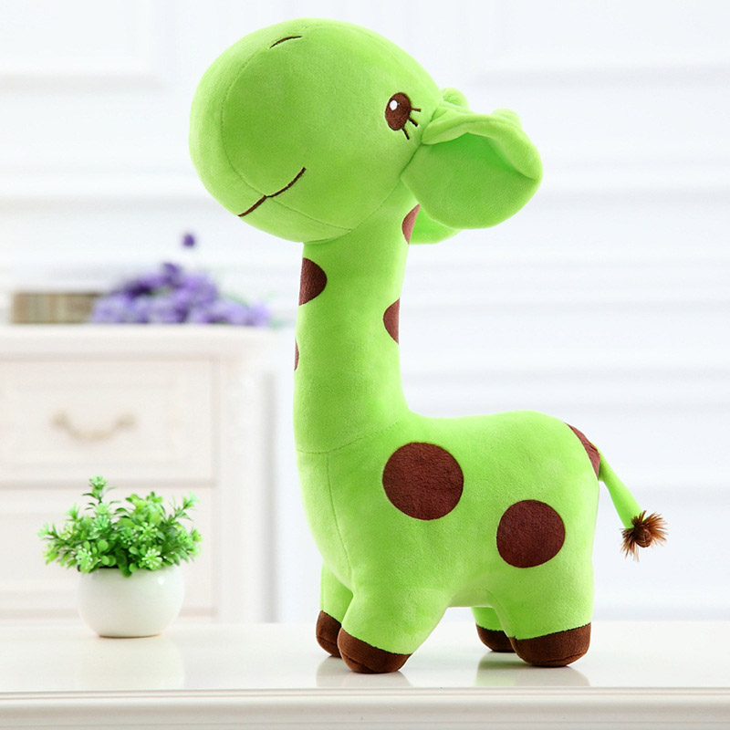 38cm Giraffe Plush Toys Unisex Baby Child Girls Cute Kids Baby Toys Soft Animal Deer Doll Christmas Birthday Happy Toy Gift 4 colors pusheen plush cute soft animal toy giraffe plush doll birthday gift toys for children 18cm baby dolls free shipping
