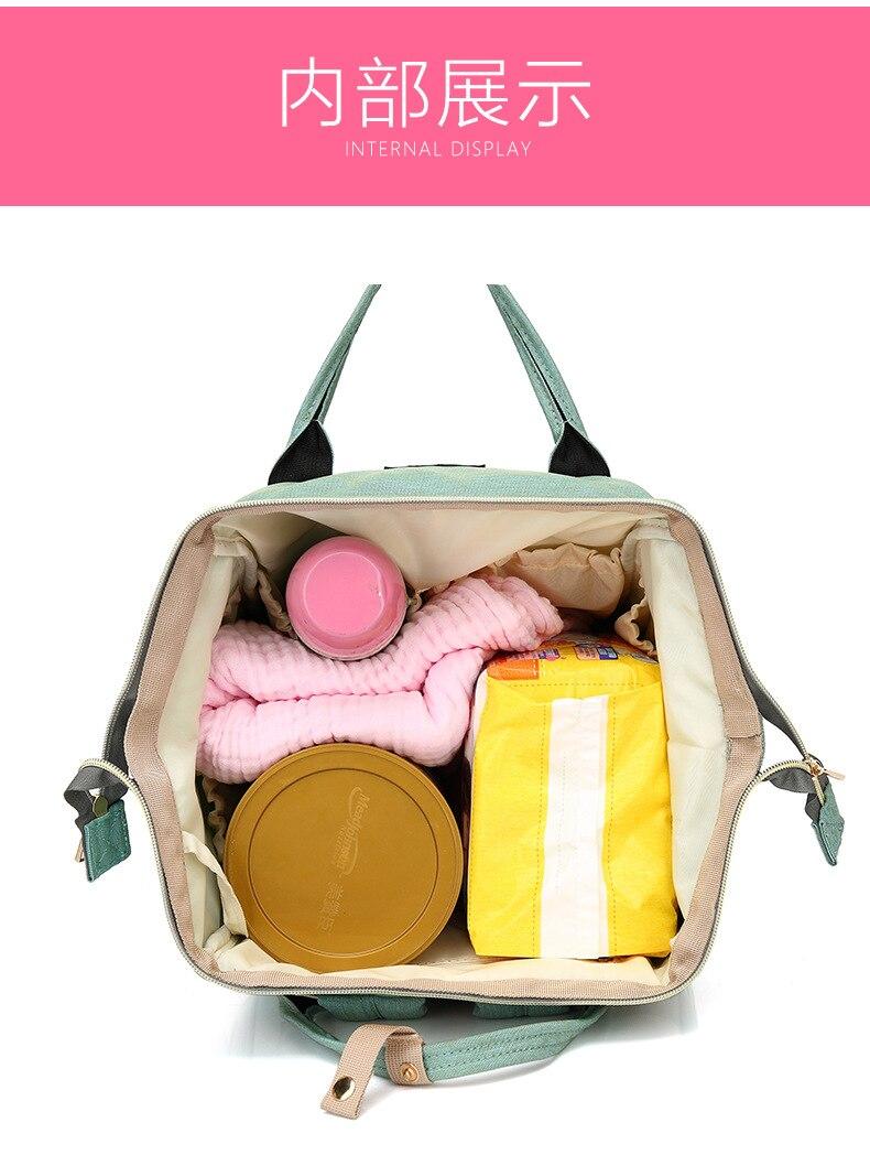 Wielofunkcyjne torby podróżne o dużej pojemności Mumia Torby - Pieluchy i Trenowanie toalety - Zdjęcie 5