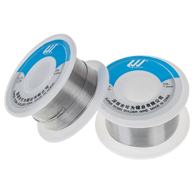 Solder Wire Tin 0.8mm/1.0mm Sn:60%,Pb:40%,Flux: 2% KW -60/40 Lead Roll Clean Rosin Welding Core Soldering Wire Flux Reel Tube