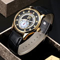 SEWOR Watches Men Brand 2017 Fashion Gold Luxury Man Automatic Mechanical Watch Sports Leather Business Clock Wathes