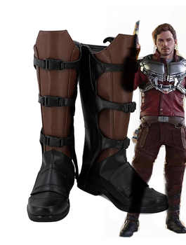 Guardians of The Galaxy Star Lord Peter Quill Cosplay Boots Shoes Custom Made Halloween Makeup - DISCOUNT ITEM  0% OFF All Category