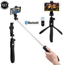 3 en 1 sans fil Bluetooth Selfie Stick pour iPhone amovible pliable poche monopode obturateur à distance extensible Mini trépied