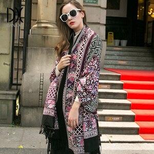 Image 5 - Moda szaliki i szale duży szalik luksusowej marki wełny Wrap muzułmański hidżab Poncho szalik z pledu indie chustka osłona twarzy