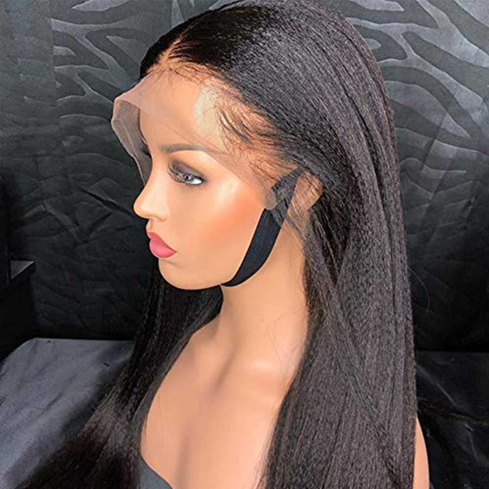 Simbeauty 150 密度ライト焼き 360 レースフロント人間の髪は女性のため焼きストレートレースフロントウィッグブラジルレミー髪